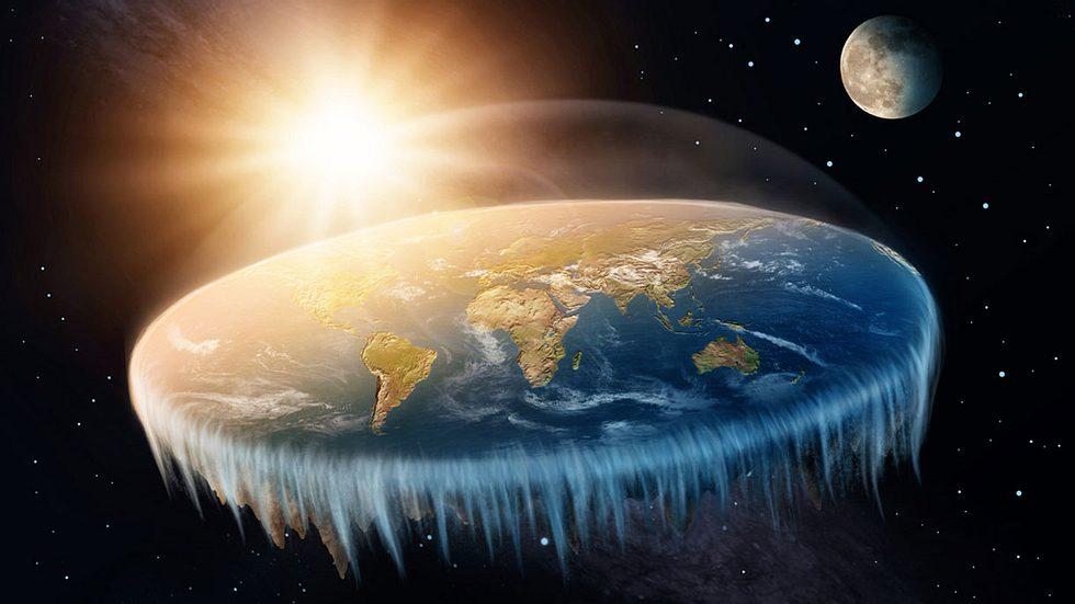Flat-Earth-Experte erklärt, warum wir nicht vom Rand der Erde fallen