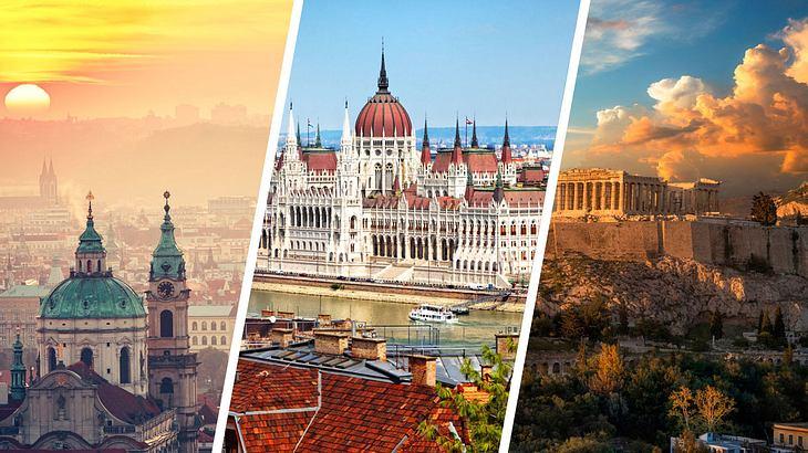 Die günstigsten Städtereisen in Europa