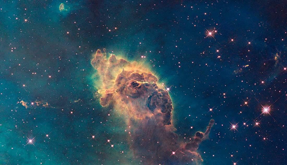 NASA Hubble:Ein Kissen aus Gas im Carina-Nebel