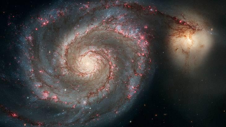 Eine sogenannte Whirlpool-Galaxie