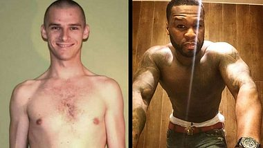 Wegen 50 Cent: Dürrer 41-Jähriger verwandelt sich in Muskelberg