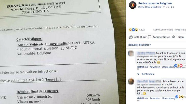 Opel-Fahrer rast mit 696 km/ h in Blitzer