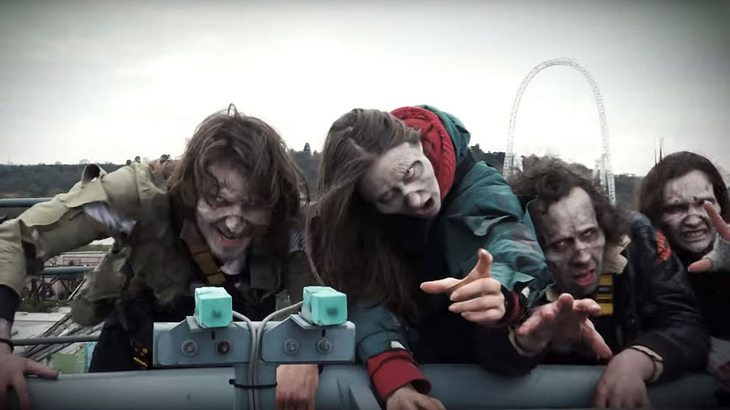 """The Walking Dead""-Achterbahn im Thorpe Park in England"