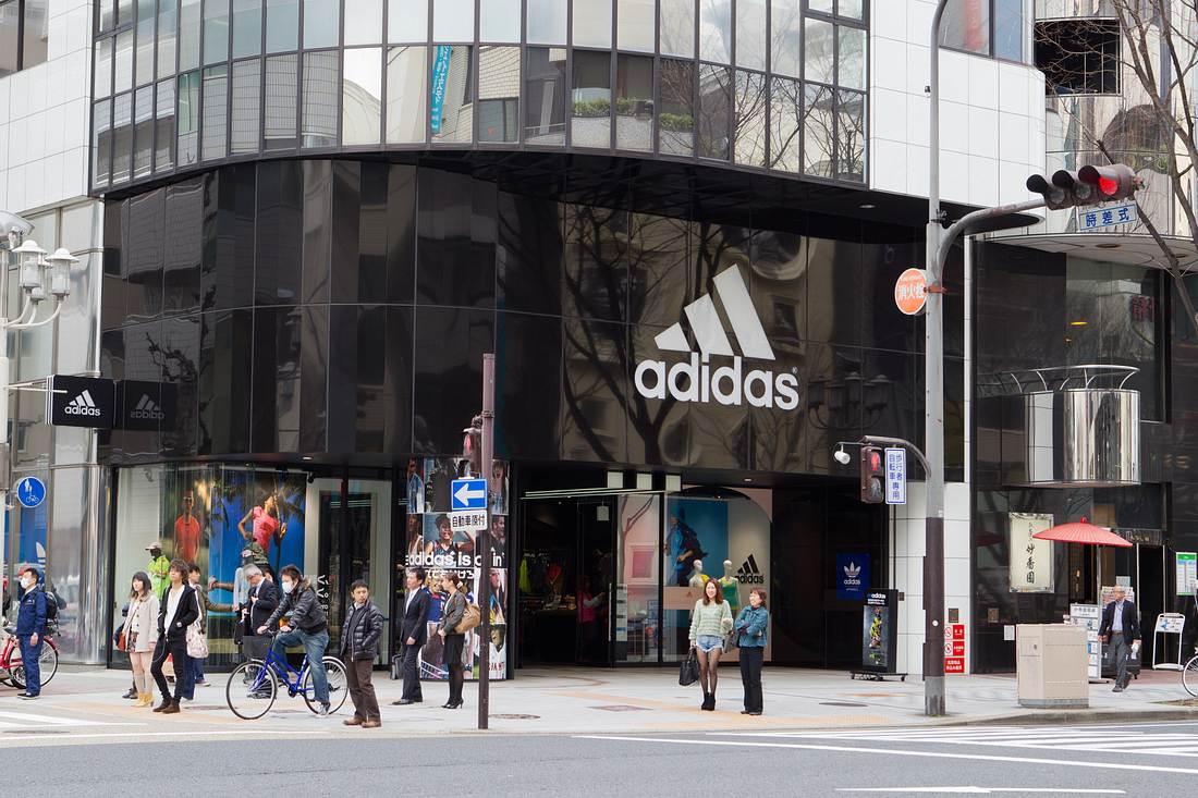 Front eines Adidas-Geschäfts