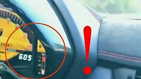 Fährt DJ Afrojack mit seinem Lamborghini Aventador SV hier tatsächlich 605 km/h - Foto: Faecbook/Shmee150