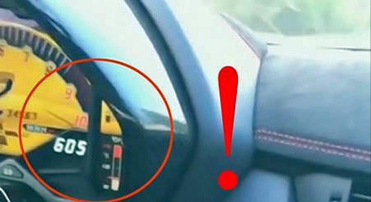 Fährt DJ Afrojack mit seinem Lamborghini Aventador SV hier tatsächlich 605 km/h