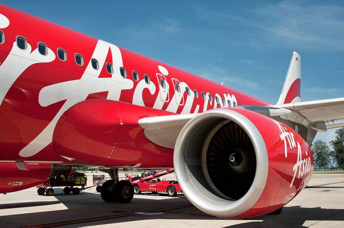 Flugzeug der Airline Air Asia