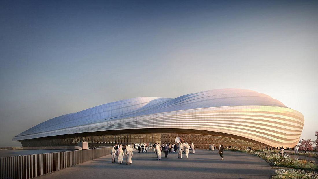 Symbolbild: Das Al Wakrah Stadion, das in Katar gebaut werden soll