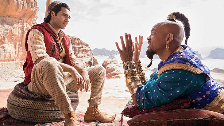 "Mena Massoud und Will Smith in ""Aladdin"""