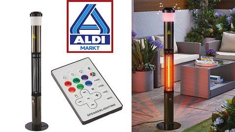 Aldi bringt Heizpilz mit Bluetooth-Lautsprechern und Mood-LEDs zum Hammerpreis