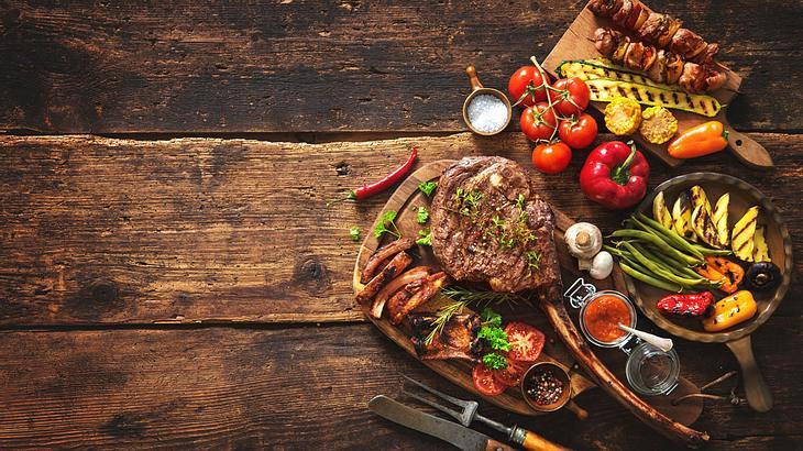 Auch für die Augen ist das Steak ein Fest