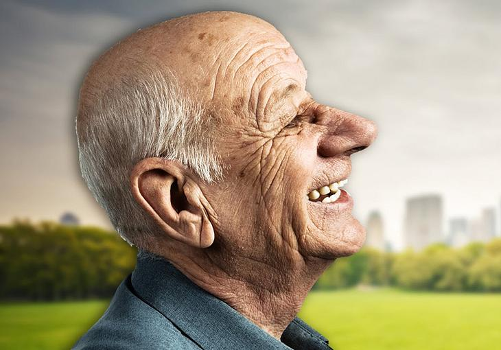 Warum haben alte Menschen großen Ohren und Nasen?