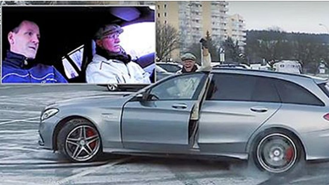 AMG-Opa Petter Solberg gibt Vollgas