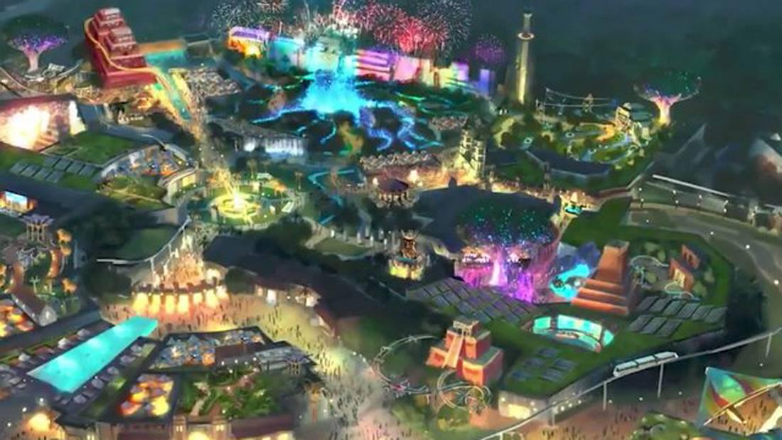 Der Freizeitpark wird 300 Hektar groß sein