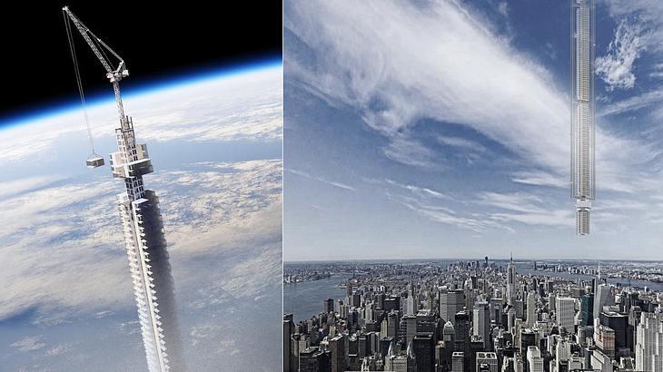 Wolkenkratzer auf Asteroid: Der Analemma Tower des Clouds Architecture Office