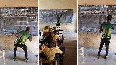 Analoger IT-Unterricht in Ghana - Foto: Innocent Frimpong