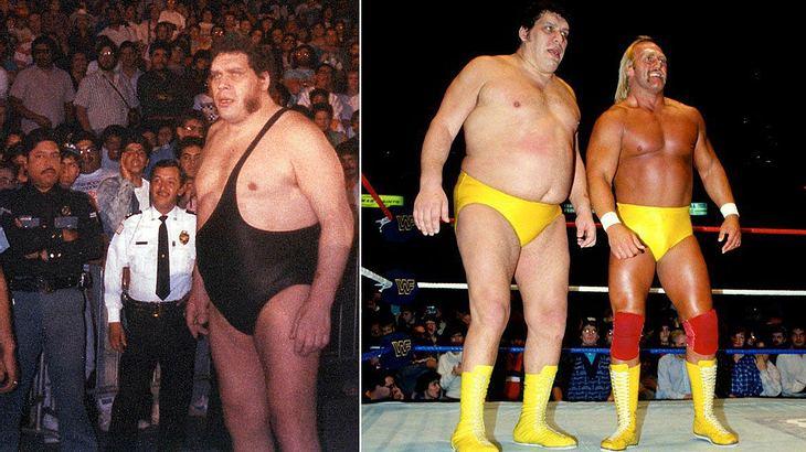 "Andre ""The Giant"" neben Hulk Hogan"
