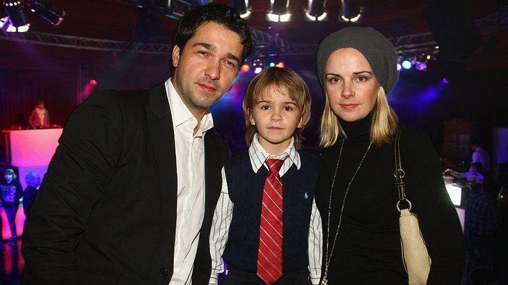Andreas Elsholz Mit Frau Denise Zich und Sohn (Dezember 2009)