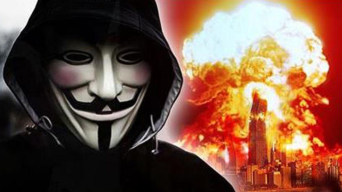 Die Hacker-Gruppe Anonymus kündigt auf YouTube den Dritten Weltkrieg zwischen China und den USA an