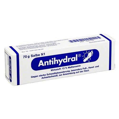 Antihydral Salbe gegen schwitzige Hände