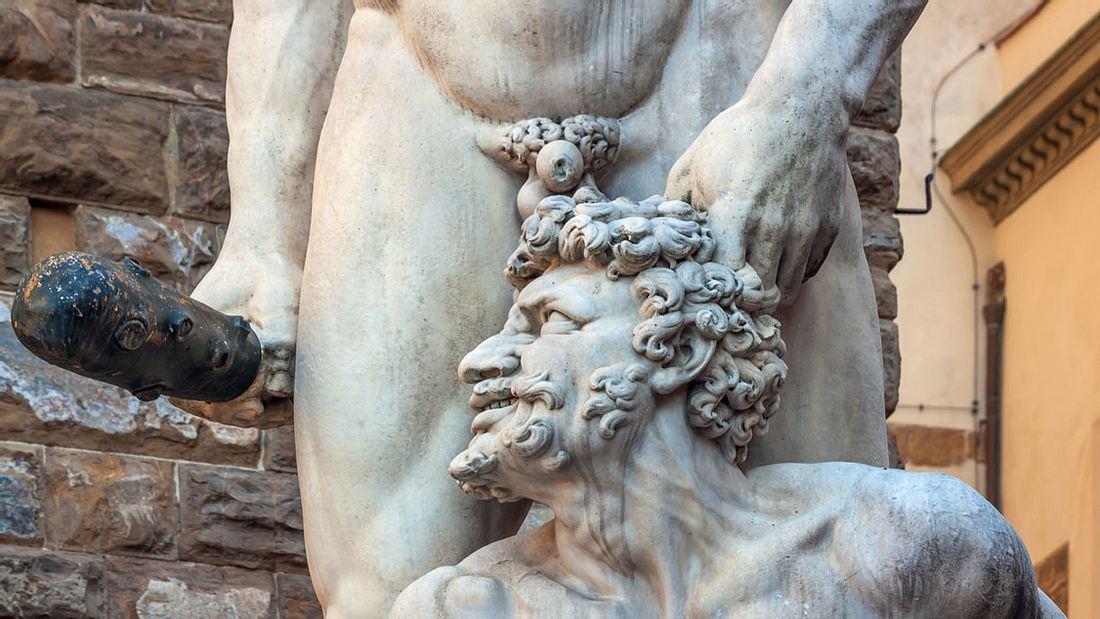 Statue von Hercules und Cacus, Piazza della Signoria