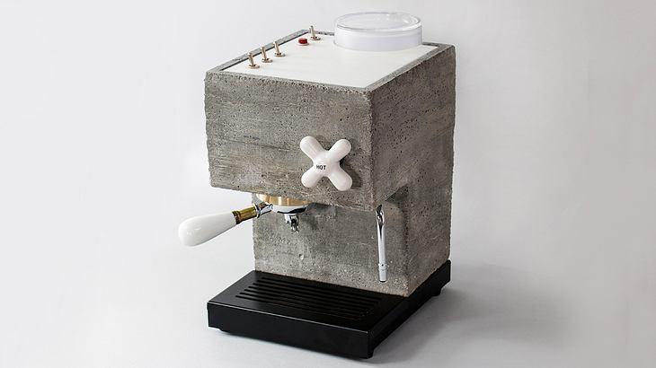 Bald zu haben: Espresso-Maschine AnZa im Brutalo-Look