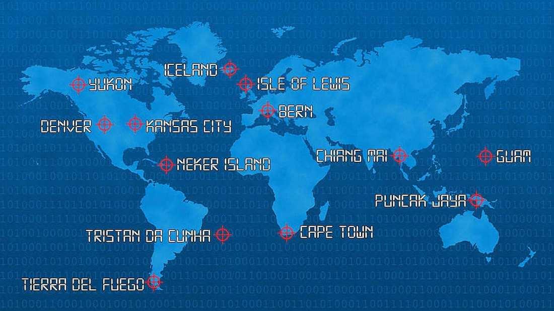 An den Orten auf dieser Karte solltest du am Tag des Weltuntergangs Schutz suchen