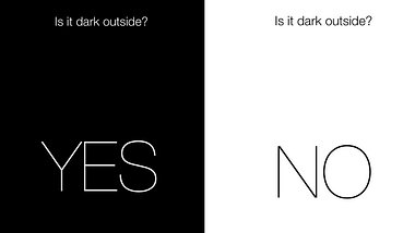 Is It Dark Outside? - Foto: Screenshot der App Is It Dark Outside?