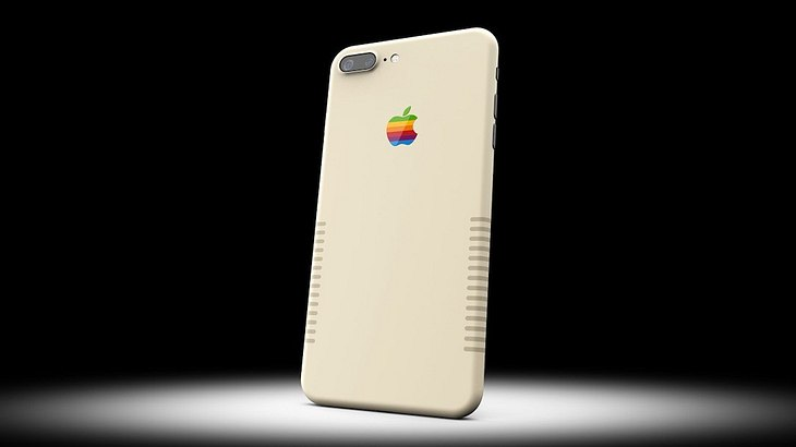 iPhone 7 Plus Retro-Edition: Colorware bietet Apples Smartphone im kultigen 80s-Macintosh-Design an