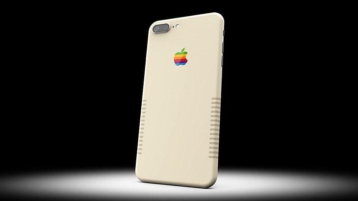 iPhone 7 Plus Retro-Edition: Colorware bietet Apples Smartphone im kultigen 80s-Macintosh-Design an