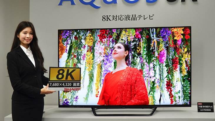 Der neue Aquos 8K wird vorgestellt