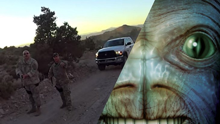 """Biker finden auf Alien-Suche Geheim-Eingang zur """"Area 51"""""""