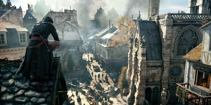 "Notre-Dame in ""Assisin's Creed: Unity"""