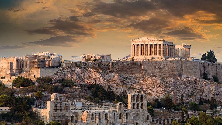 Der Parthenon auf der Akropolis in Athen