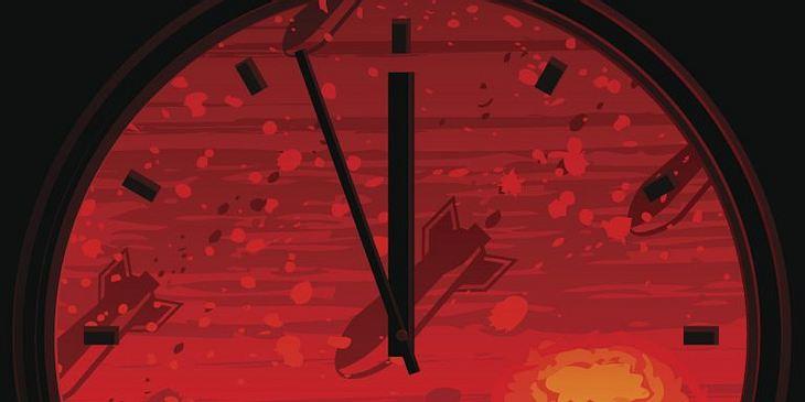 Eine Illustration der Atomkriegsuhr