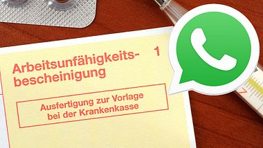 Attest per Whatsapp - Foto: iStock / PeJo29 / Whatsapp (Collage Männersache)