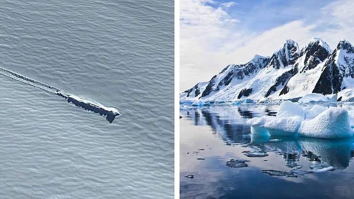Ist in der Antarktis ein UFO abgestützt?