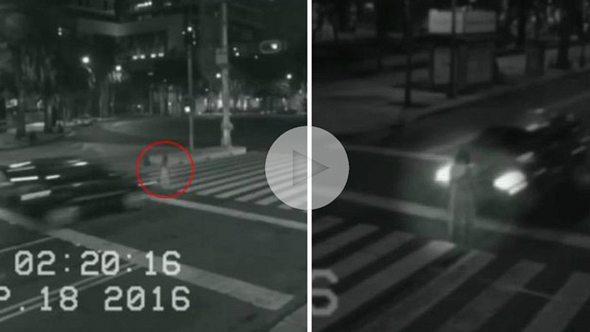 Nachts gefilmt: Auto überfährt Geist von jungem Mädchen