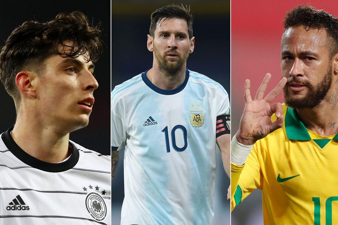 Kai Havertz, Lionel Messi, Neymar