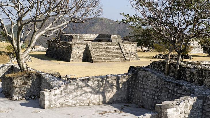 Eine Azteken-Pyramide in Mexiko