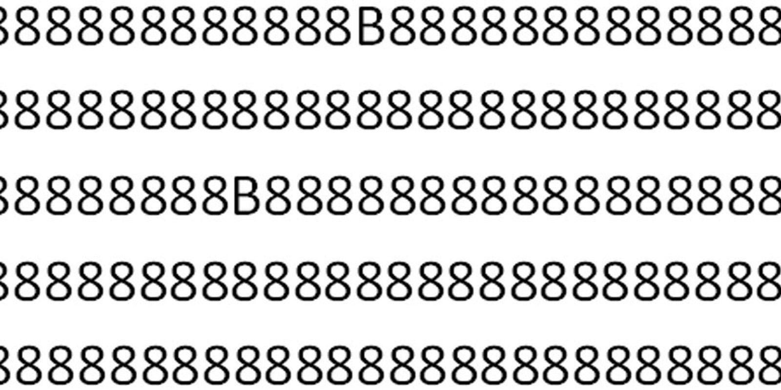 Fast jeder tippt beim ersten Mal falsch: Wie viele Bs befinden sich in diesem Bild?