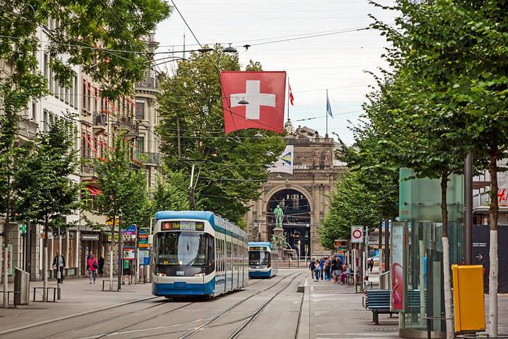Die Bahnhofstraße in Zürich.