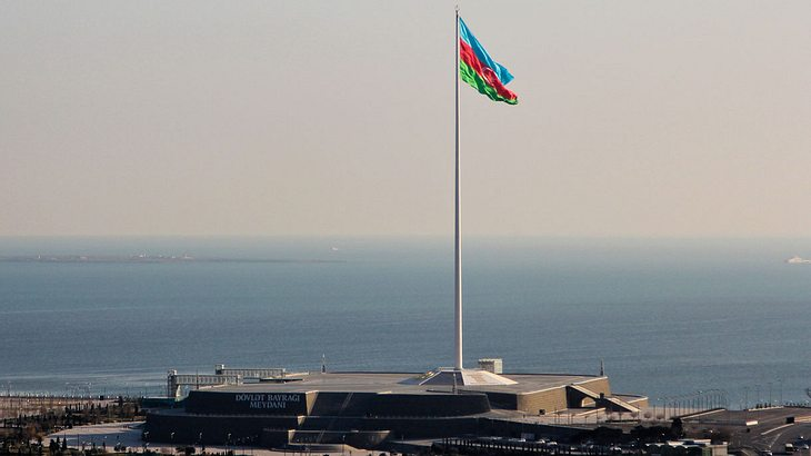 Flaggenmast in Baku