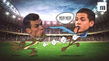 Als Gareth Bale von Ex-HSVer Muhamed Besic rasiert wurde