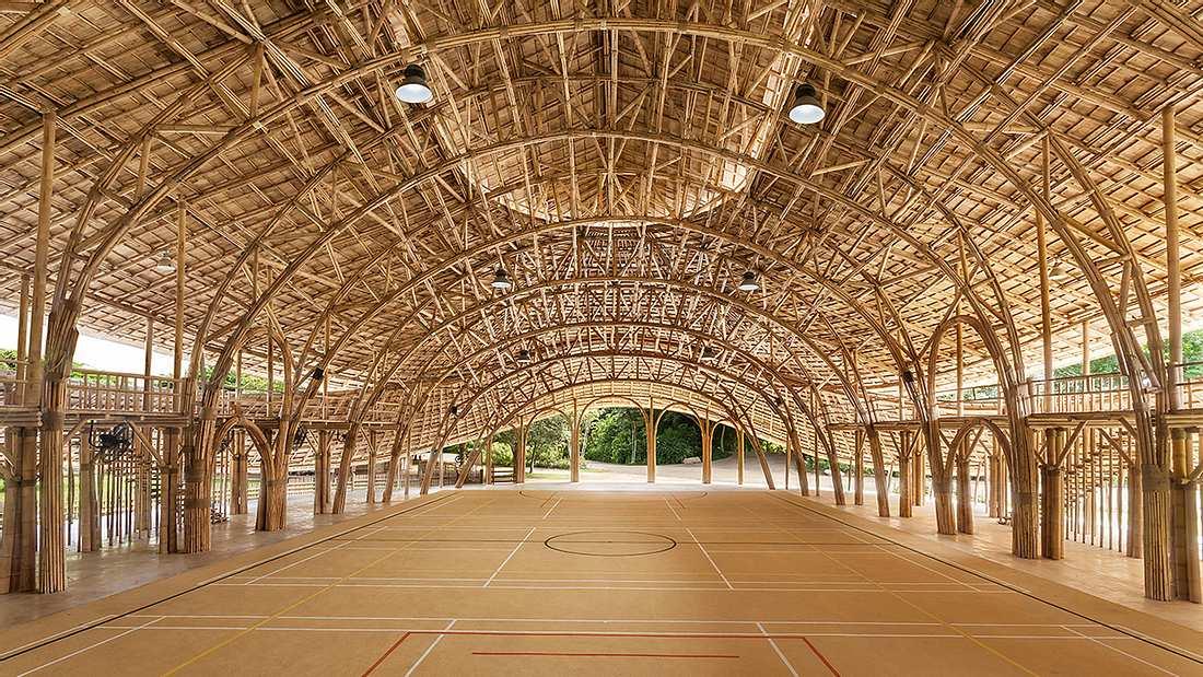 Wow: Diese Sporthalle besteht komplett aus Bambus