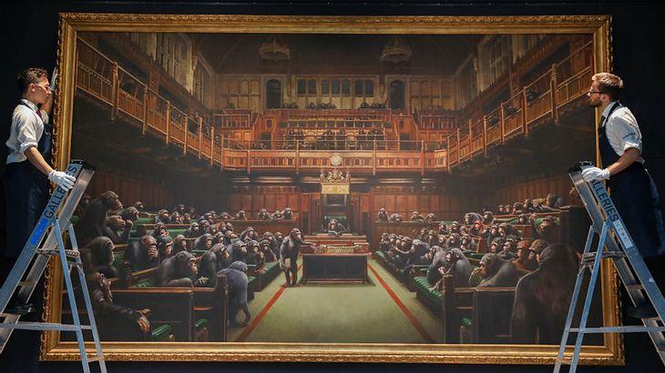Kunst-Knaller! Banksy-Bild für Wahnsinnssumme versteigert