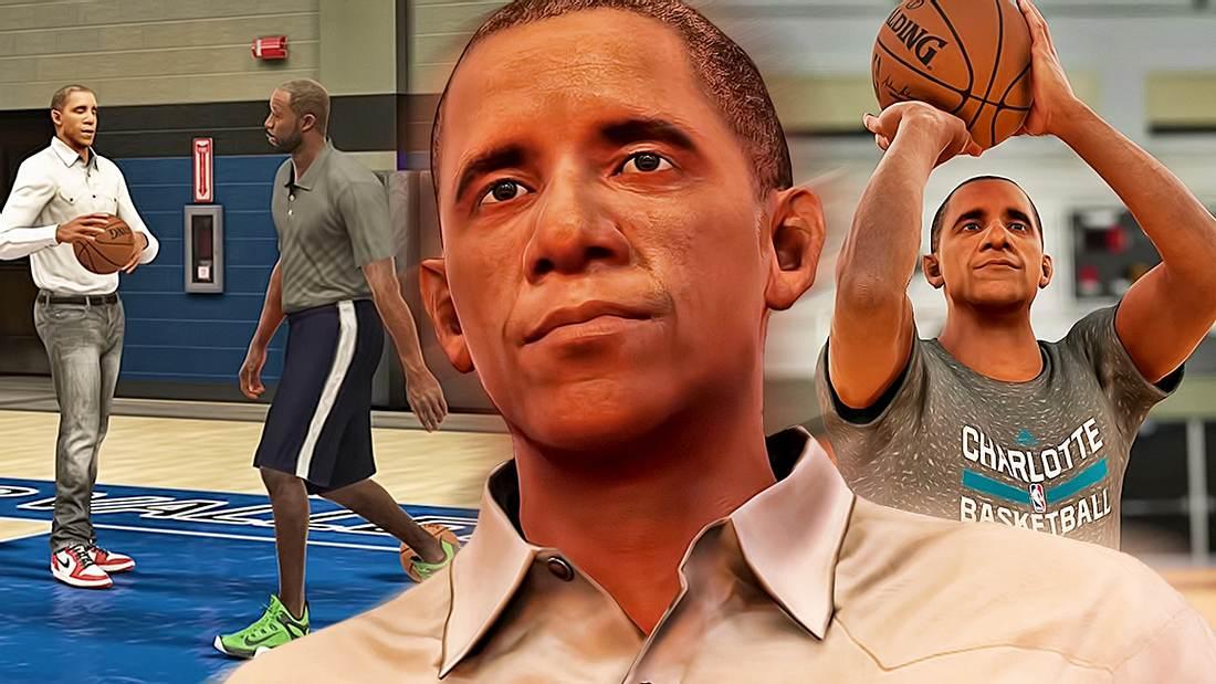 Barack Obama ist ein spielbarer Charakter in NBA 2K17