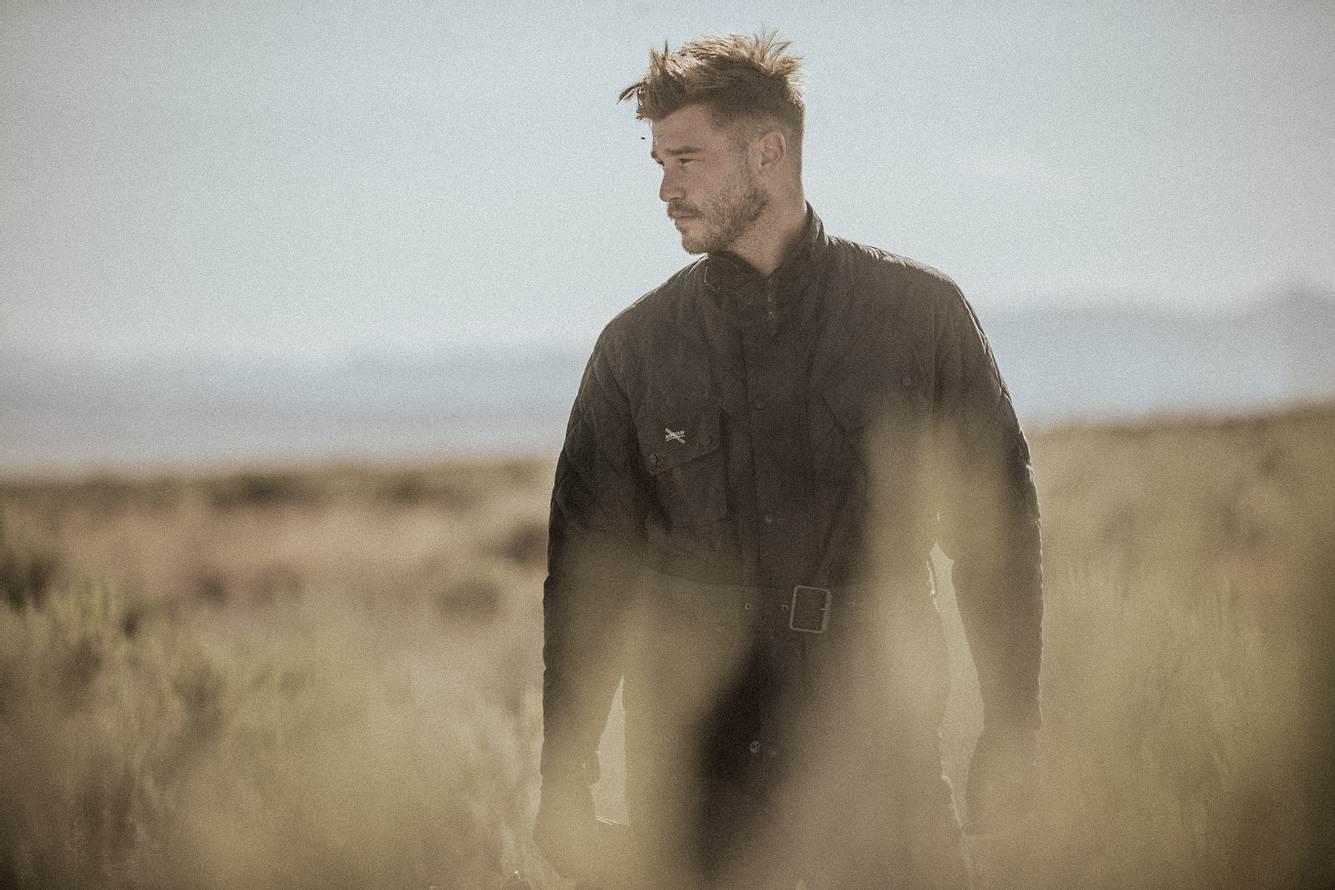 Mann in einer Landschaft
