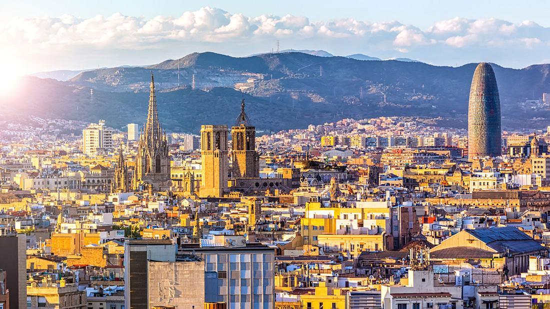 Die Skyline von Barcelona
