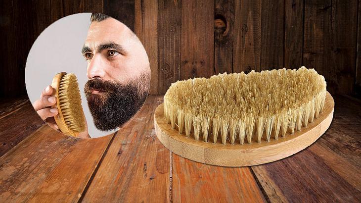 Bartbürste bei Amazon kaufen: PIXNOR Bartbürste aus Bambus mitWildschweinborsten